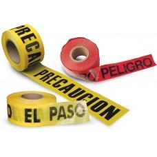 CINTA PRECAUCIÓN, PROHIBIDO EL PASO, PELIGRO.